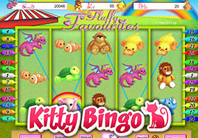 Fluffy Favourites mobile bingo sites kitty bingo