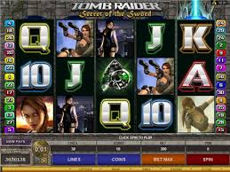 Tomb Raider Secret of the Sword at spin and win