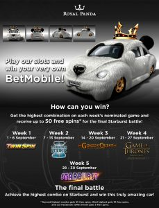 Win the BetMobile with Royal Panda